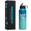 H2OCOACH - Splash Life -  Stainless Steel Water Bottle 40 oz 1.8 Liter
