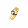 Gold Granite Engagement Ring