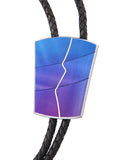 Abstract Crack Inlay Bolo Tie