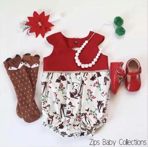 Girl Deer Romper