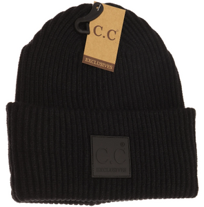 C.C. Beanie Adult-Rubber Patch