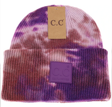 Load image into Gallery viewer, C.C. Tie Dye Beanie-Rubber Patch