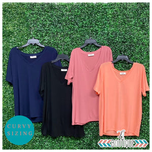 Curvy Short Sleeve Basic Tee
