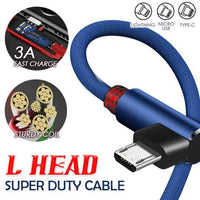 DuraCable™ L Head 2 in 1 Cable