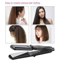 4 in 1 Interchangeable Ceramic Hair Straightener/Crimper/Waver