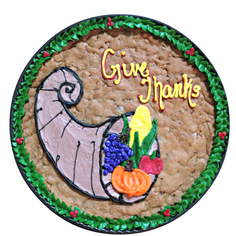 Give Thanks Cornucopia Cookie Cake