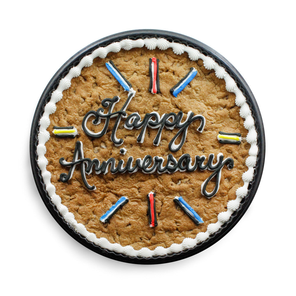 Happy Anniversary Custom Cookie Cake