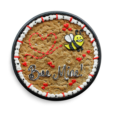 Bee Mine Valentine's Day Custom Cookie Cake