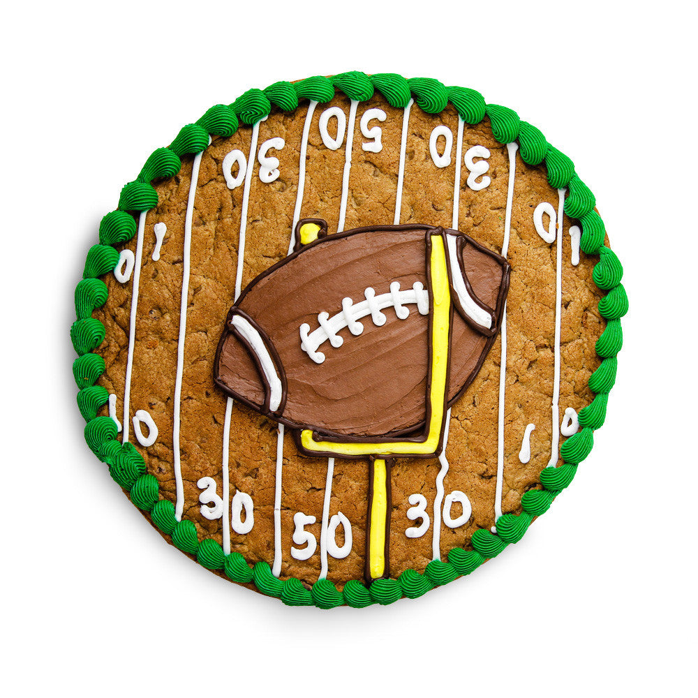 Superbowl Cookie Cake | Football Cookie Cake
