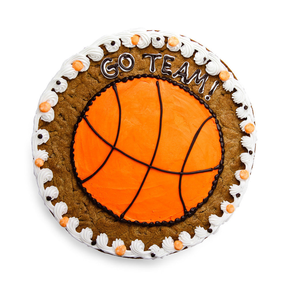 March Madness Basketball Cookie Cake