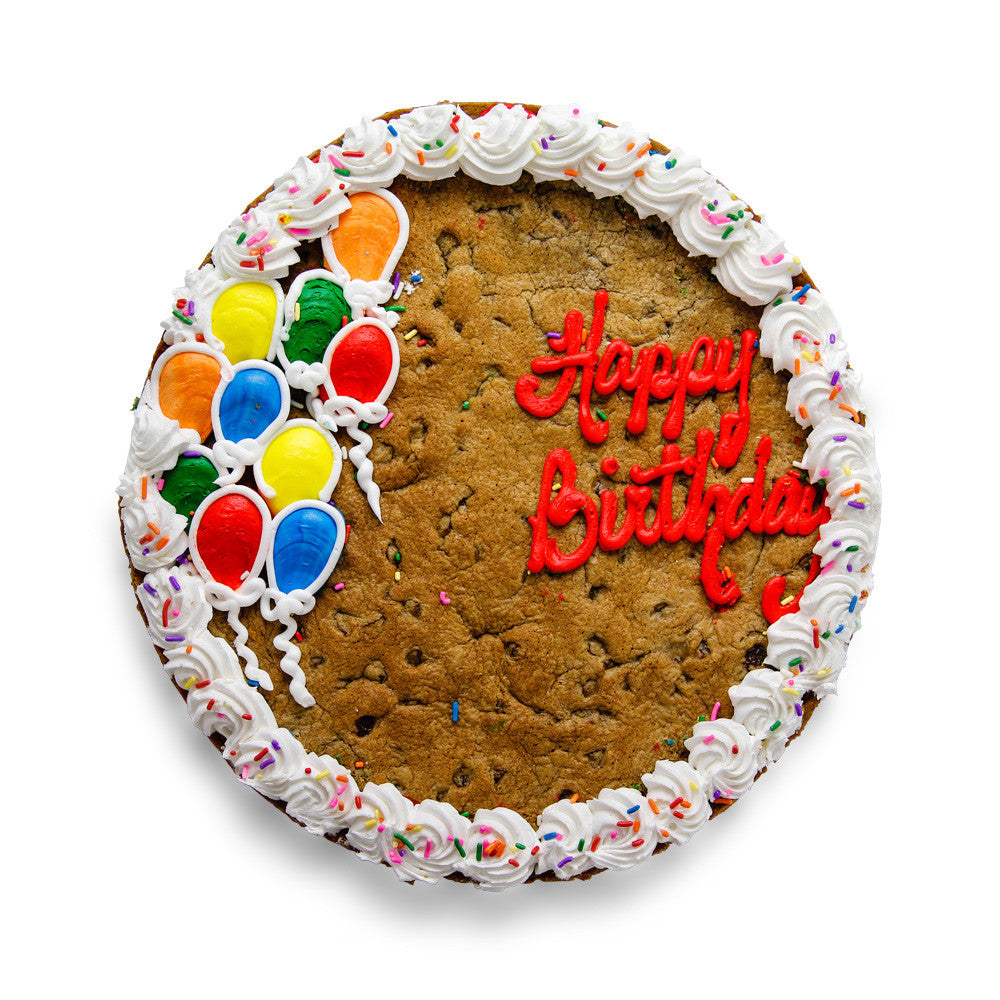 Phenomenal The Great Cookie Birthday Balloon Custom Cookie Cake Funny Birthday Cards Online Elaedamsfinfo