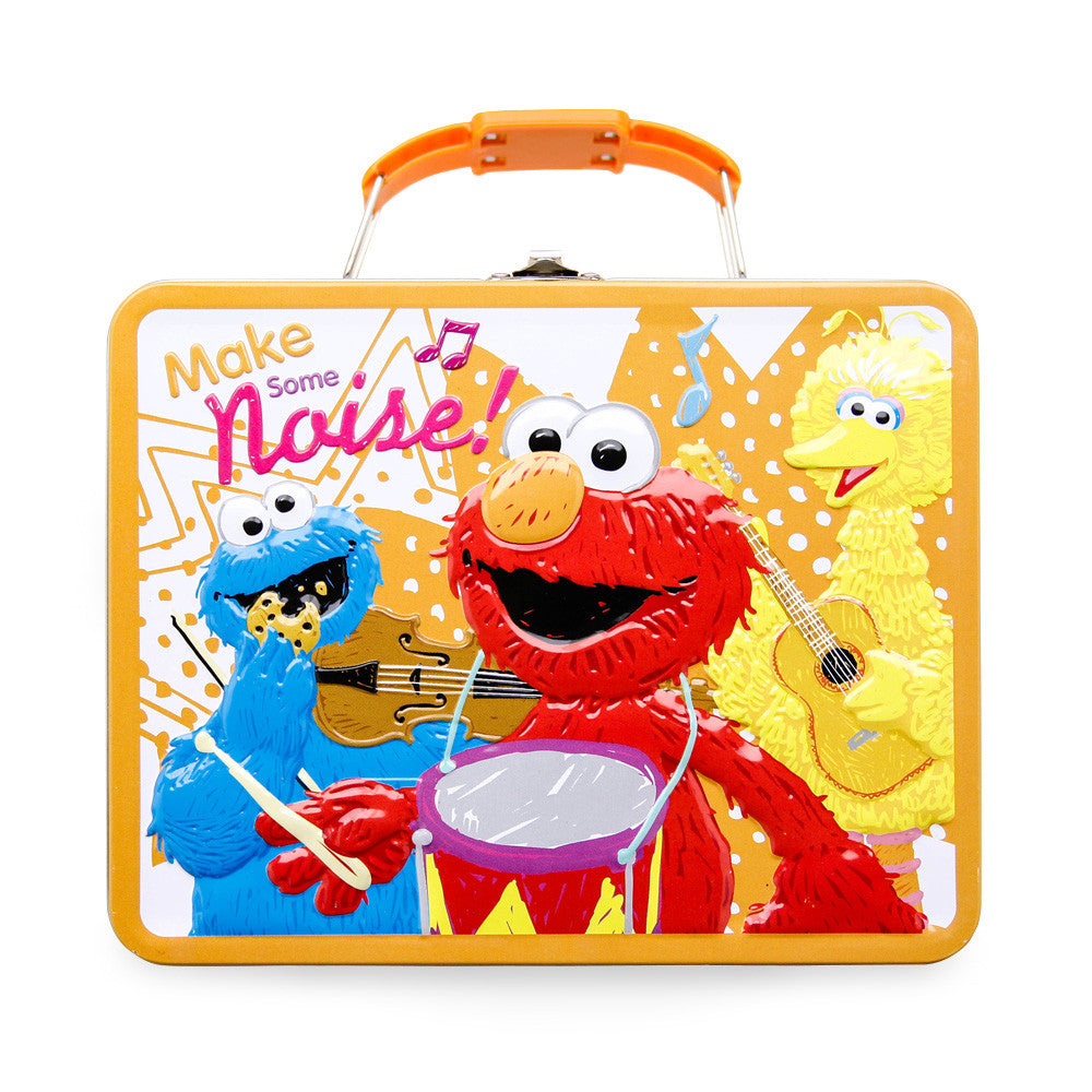 Sesame Street Elmo Tin Lunchbox with 1lb. Cookies