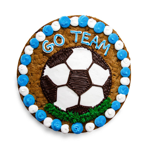 Go Team Soccer Cookie Cake