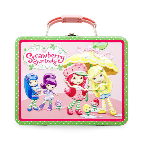 Strawberry Shortcake Tin Lunchbox with 1lb. Cookies