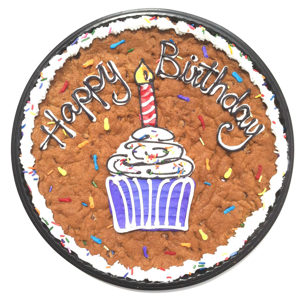 Birthday Cookie Cake with Cupcake design