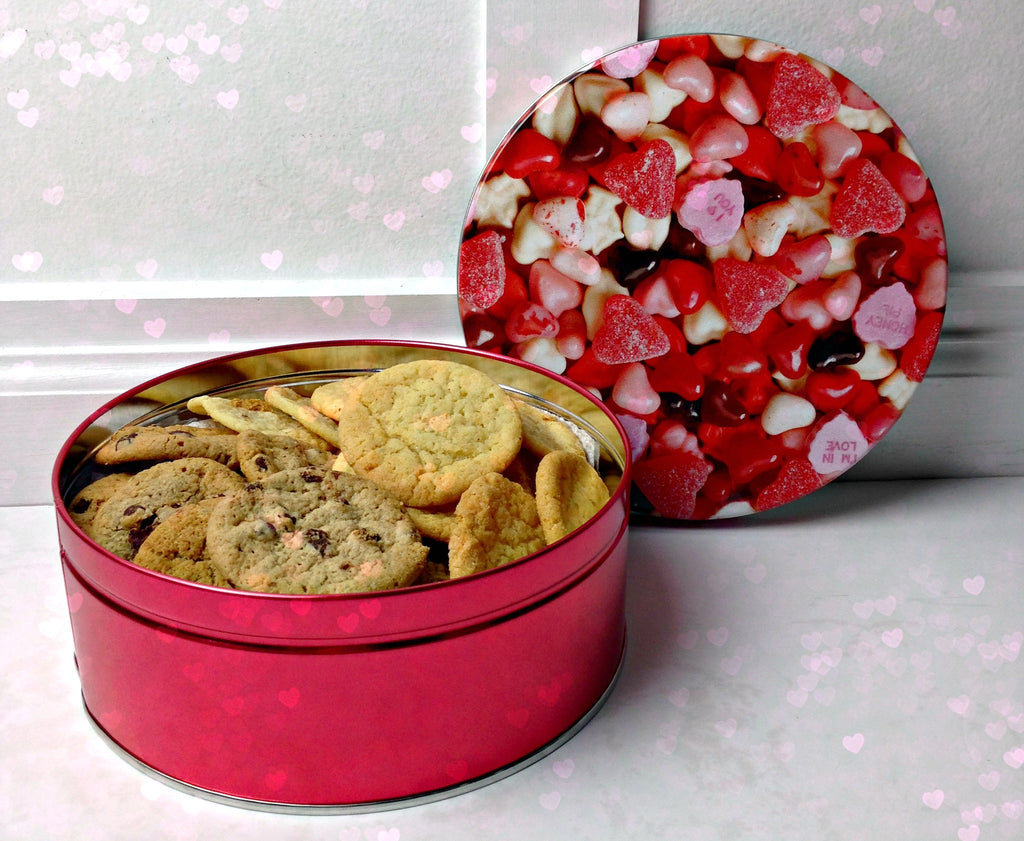 Valentine's Day Cookie Gift with 2lbs. fresh baked cookies of your choice