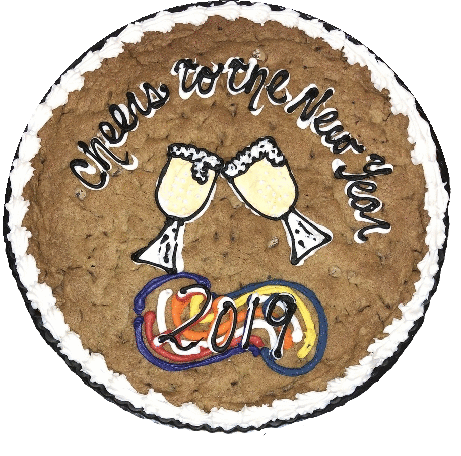 Happy New Year 2019 Custom Cookie Cake