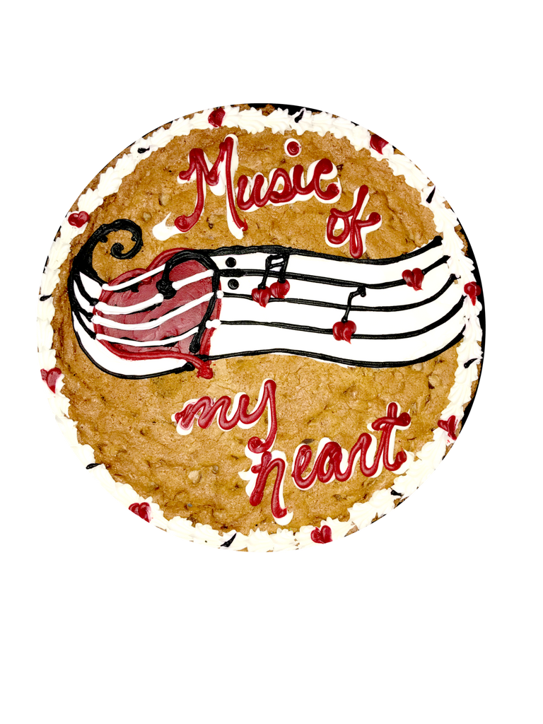 Heart Musical Cookie Cake