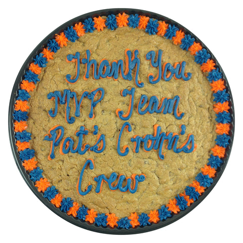 Thank You MVP Team Pat's Crohn's Crew Cookie Cake
