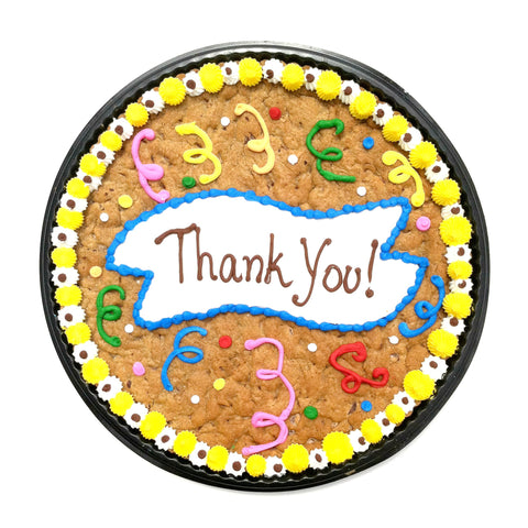 Thank You Cookie Cake with colors