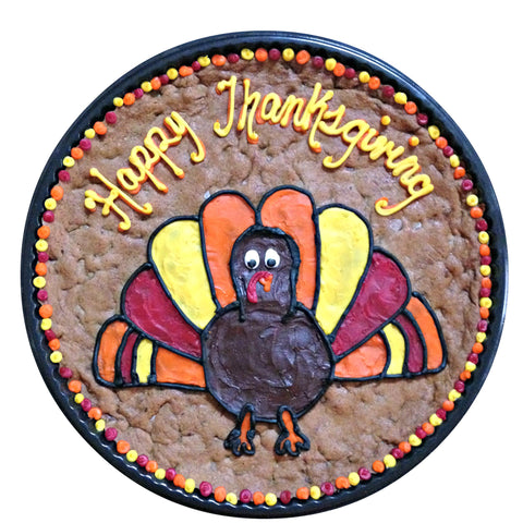 Turkey Design Thanksgiving Cookie Cake
