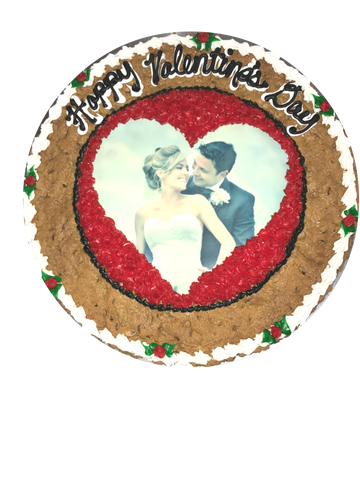 Valentine's Day Photo Cookie Cake