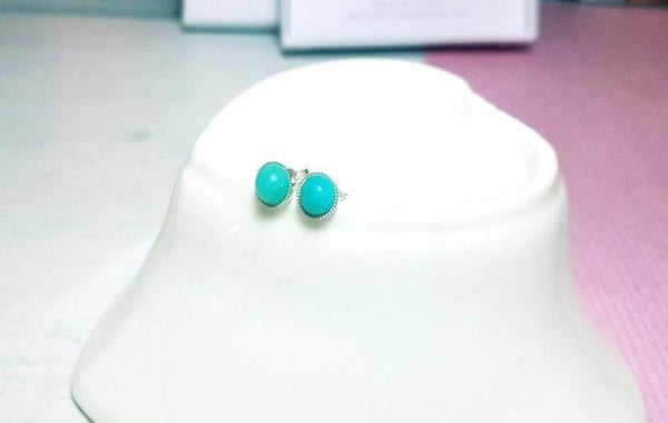 Amazonite gemstone stud earrings - Sophie-May Designs