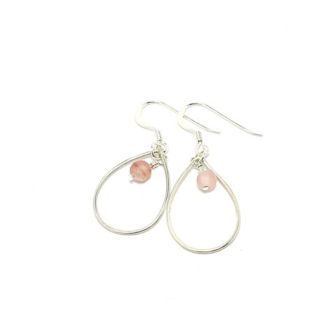 Cherry Quartz Drop Earrings-Earrings-Sophie-May Designs