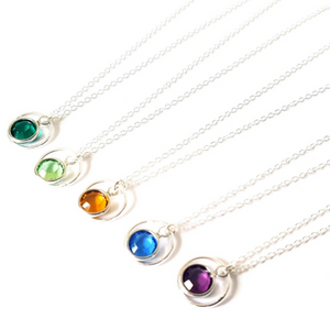 Birthstone Swarovski Necklace-Necklace-Sophie-May Designs