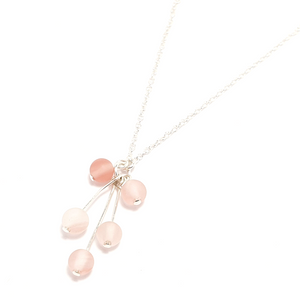 Cherry Quartz Drop Necklace-Necklace-Sophie-May Designs