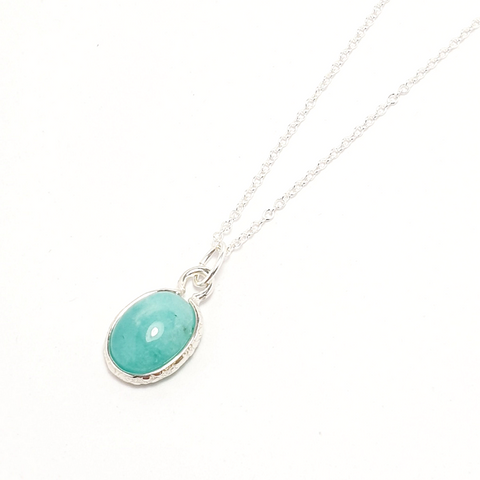 Amazonite Gemstone Necklace-Necklace-Sophie-May Designs