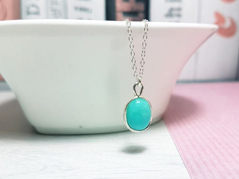 Amazonite Gemstone Necklace - Sophie-May Designs