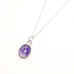 Amethyst Gemstone Necklace-Necklace-Sophie-May Designs