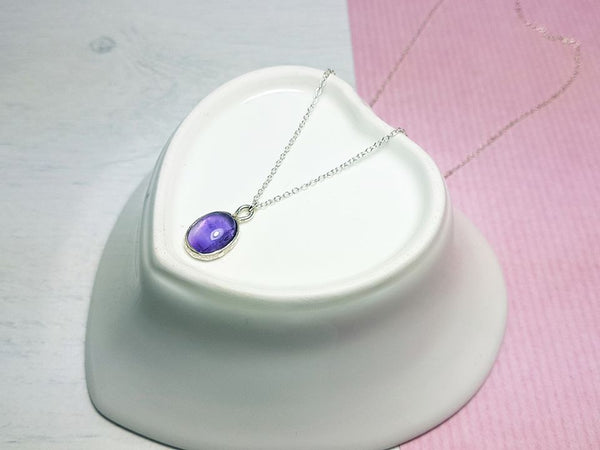 Amethyst Gemstone Necklace - Sophie-May Designs