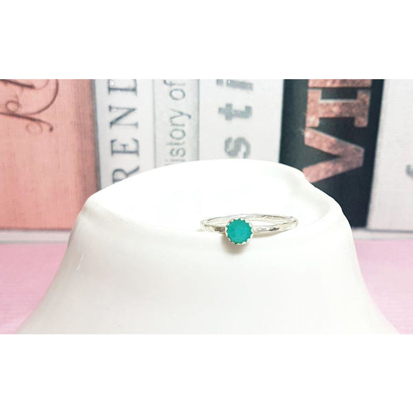 Amazonite Gemstone Ring-Stacking Rings-Sophie-May Designs