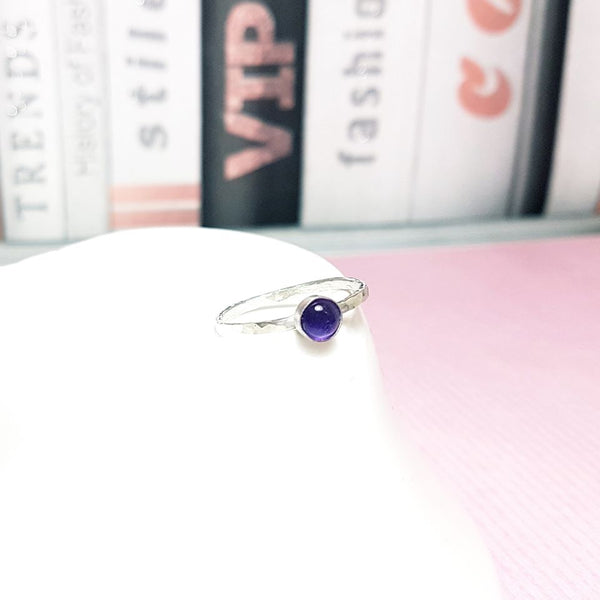 Amethsyst Gemstone Stacking Ring-Stacking Rings-Sophie-May Designs
