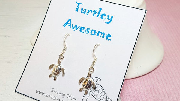 Sea turtle earrings-Earrings-Sophie-May Designs