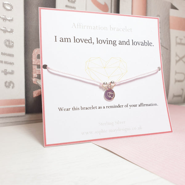 Affirmation Bracelet: I am loved.-Sophie-May Designs