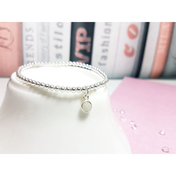 Graduation, Dainty Moonstone Bracelet - Sophie-May Designs