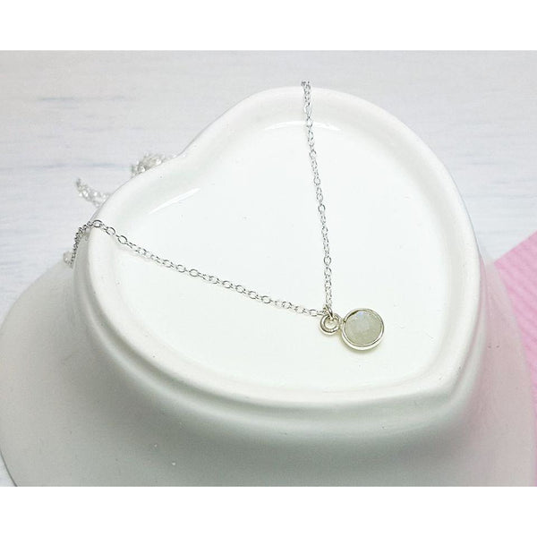 Graduation, Dainty Moonstone Necklace - Sophie-May Designs