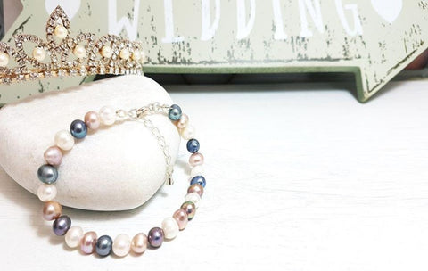 Classic Pearl Trio Bracelet - Sophie-May Designs