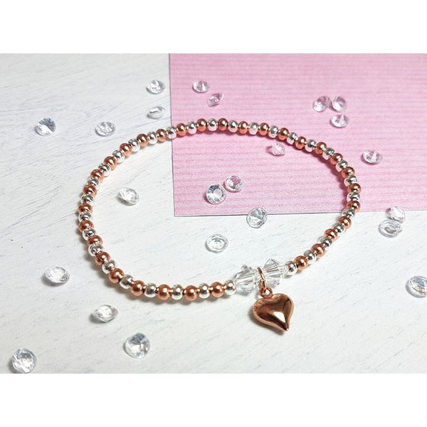 Rose Gold Heart Bracelet-Bracelet-Sophie-May Designs