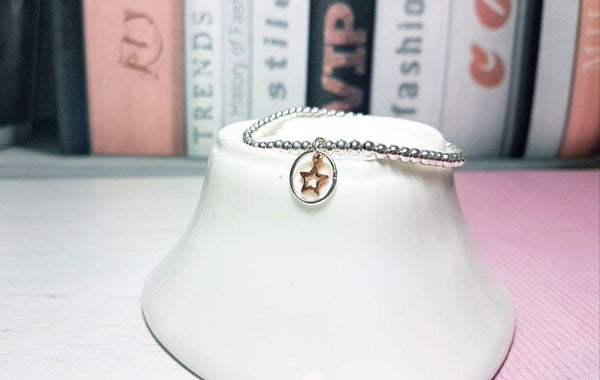 Sterling Silver Rose Gold Star Bracelet - Sophie-May Designs