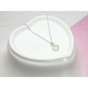 Dainty Rose Quartz Gemstone Necklace - Sophie-May Designs