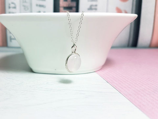 Mother's Day Gift Rose Quartz Necklace-Necklace-Sophie-May Designs