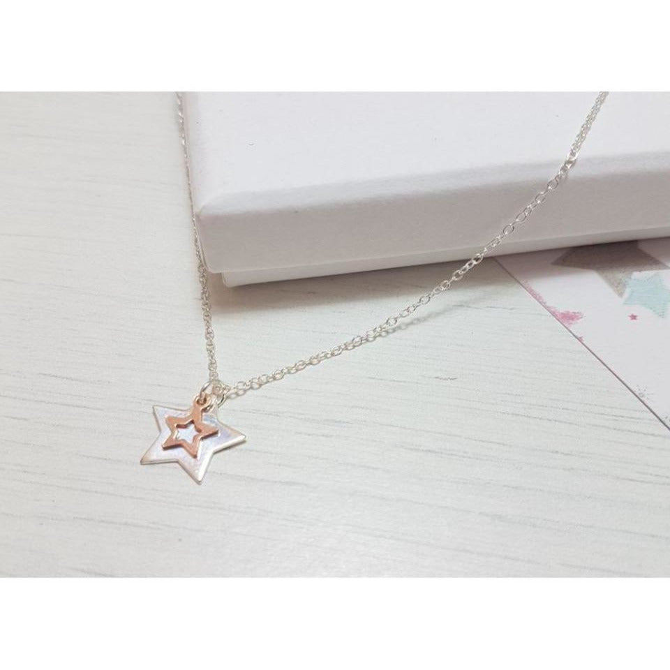 Graduation Star Duo Pendant-Necklace-Sophie-May Designs