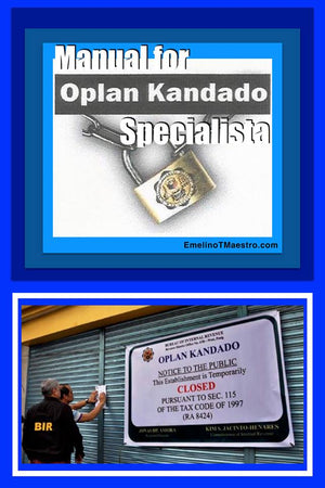 Manual for Oplan Kandado - Emelino T Maestro