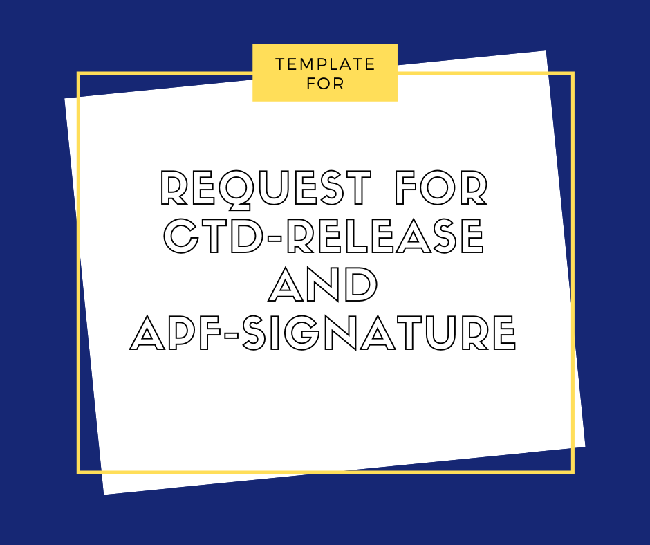 Request for CTD-Release and APF-Signature - Emelino T Maestro