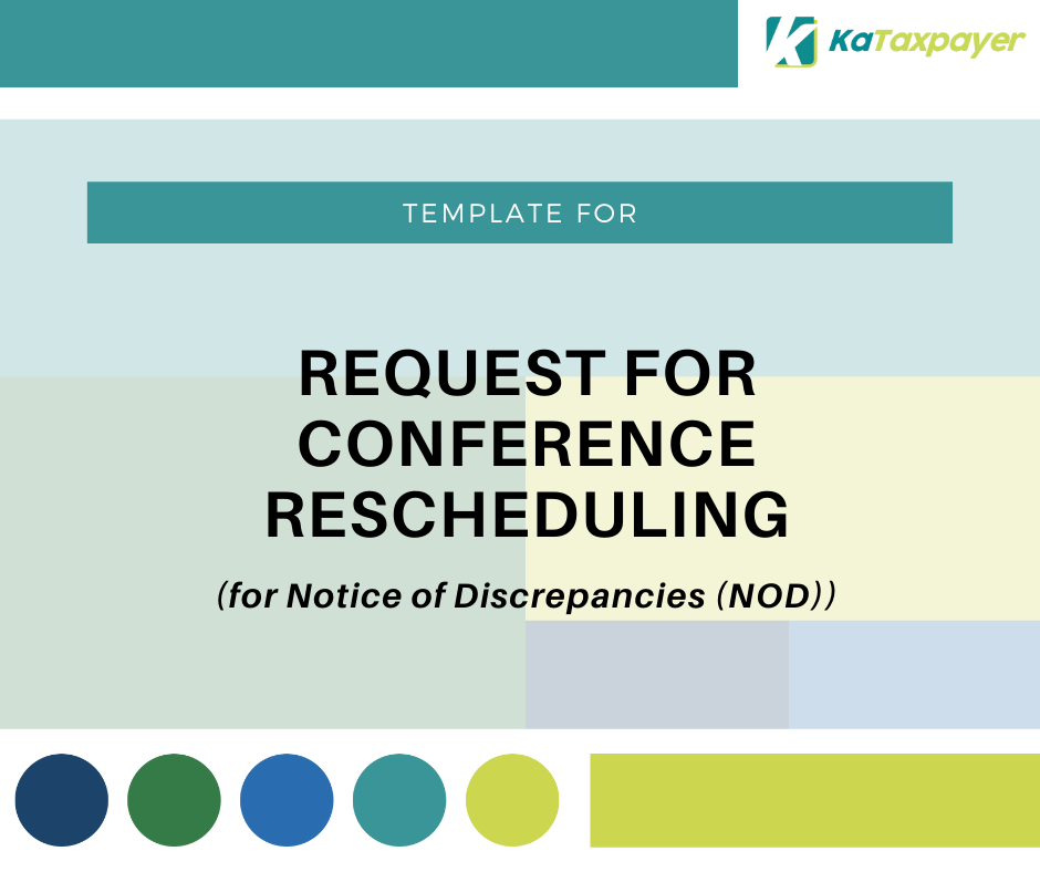 Request for Conference Rescheduling - Emelino T Maestro