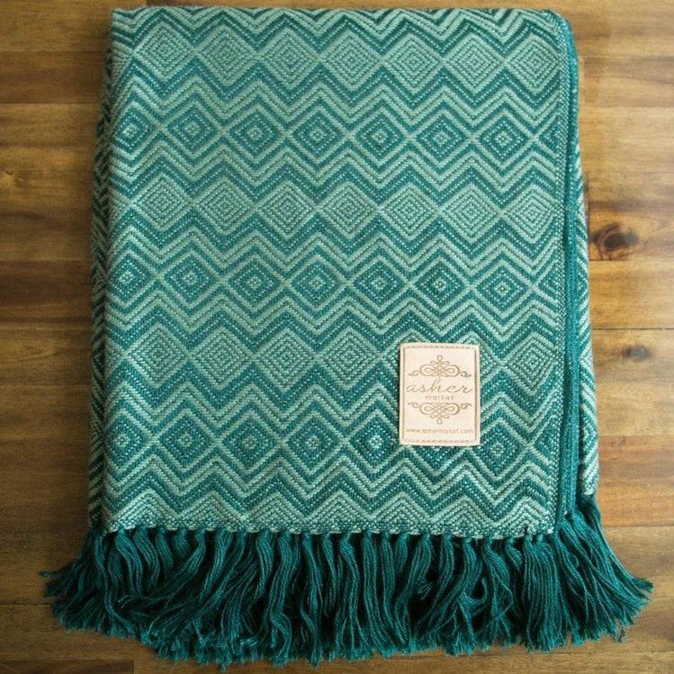 Biarritz Alpaca Blend Throw-Asher Market soft, cozy and machine washable